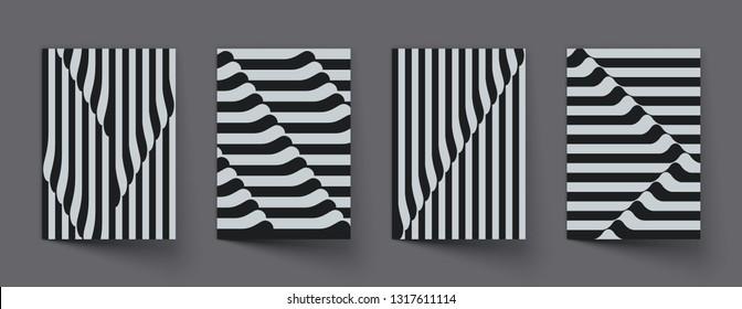 Creative geometric covers design. Eps10 vector.