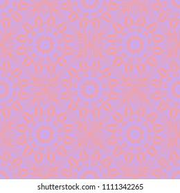 creative geometric ornament on color background. Seamless vector illustration. For interior design, colored wallpaper.