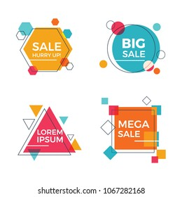 Creative Geometric Sale Banners