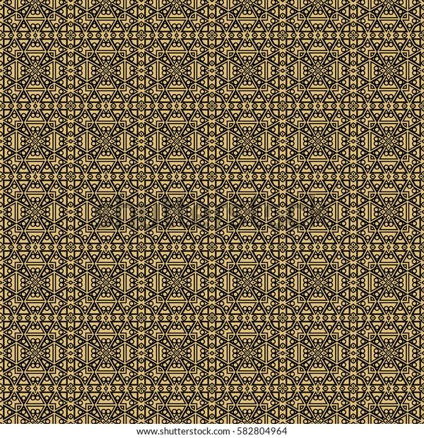 creative geometric seamless pattern. triangle, circle, line shape. vector illustration. for interior design, wallpaper, print, fabric, decor