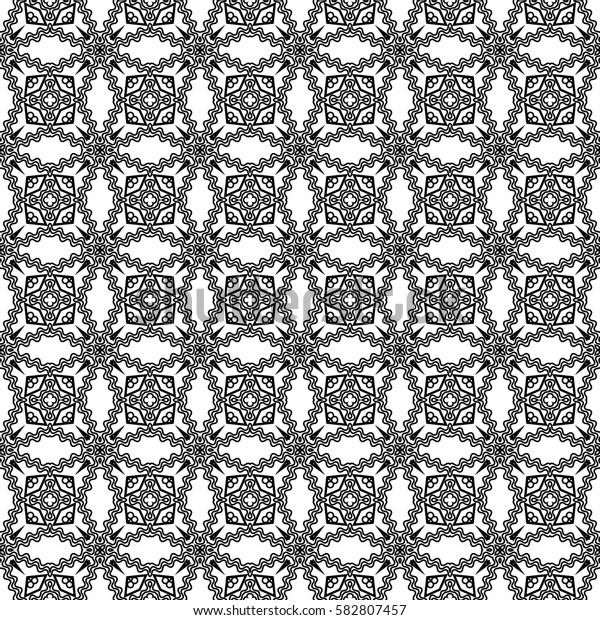creative geometric seamless pattern. triangle, circle, line shape. vector illustration. for interior design, wallpaper, print, fabric, decor