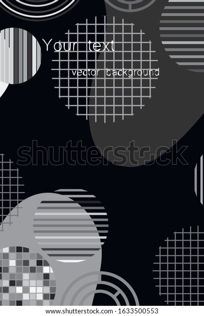 Creative geometric wallpaper. Trendy circle shapes composition. Eps10 vector