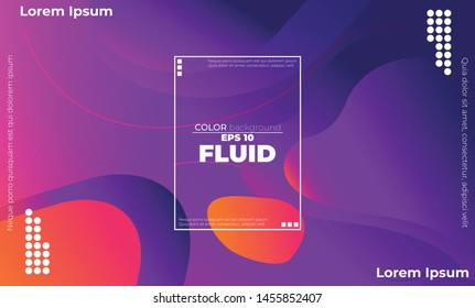 Creative geometric wallpaper. Trendy fluid flow gradient shapes composition. Applicable for gift card,  Poster on wall poster template,  landing page, ui, ux ,coverbook,  baner, social media posted