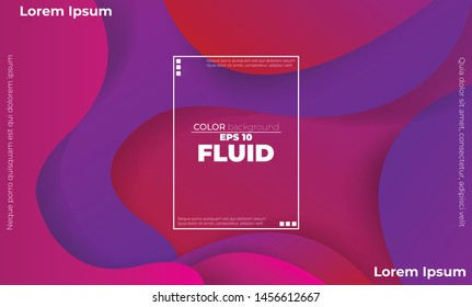 Creative geometric wallpaper. Trendy fluid flow gradient shapes composition. Applicable for gift card,  Poster on wall poster template,  landing page, ui, ux ,coverbook,  baner, social media posted,