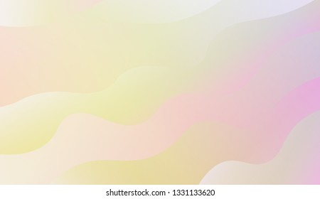creative geometric wave shape with gradient color. Vector illustration. Design for landing page