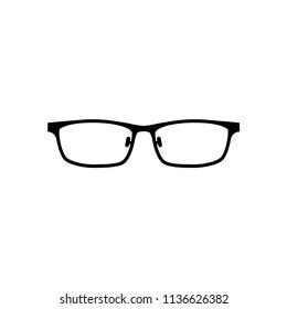 creative glasses logo, glasses icon vector