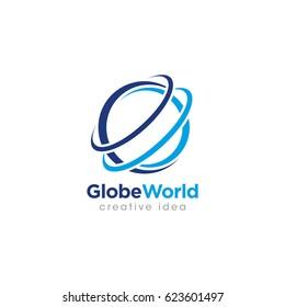 Creative Globe Concept Logo Design Template