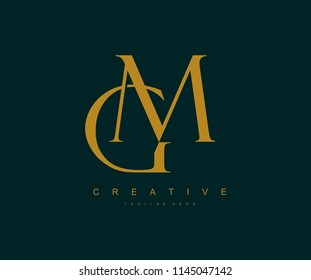 Creative GM Letter Linked Luxury Premium Logo
