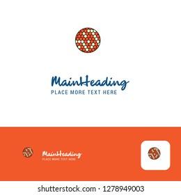 Creative Golfball  Logo Design. Flat color Logo place for Tagline. Vector Illustration