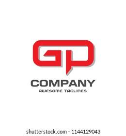 creative GP letter logo design vector illustration template