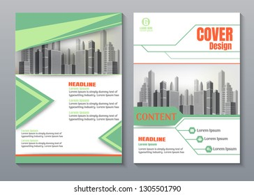 Creative green book cover design.