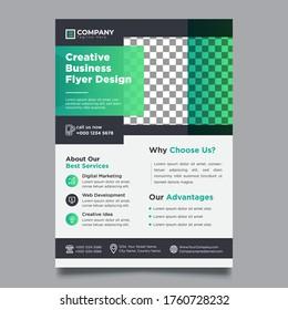 Creative Green Business Flyer Design Template