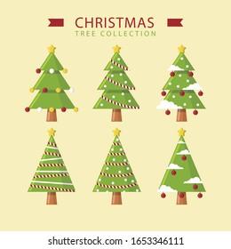 Creative Green Christmas tree Vektorillustration
