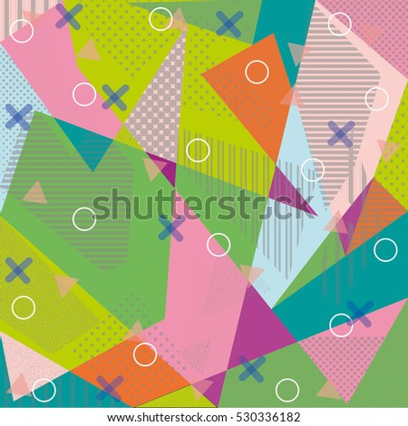 Creative Greeting Card Memphis Style Modern Stock Vector