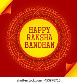 Creative greeting card,for festival of raksha bandhan celebration.