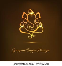 Creative Greeting Card,Poster Or Banner For Hindu Festival Ganesh Chaturthi Celebration Or Shubh Deepawali.