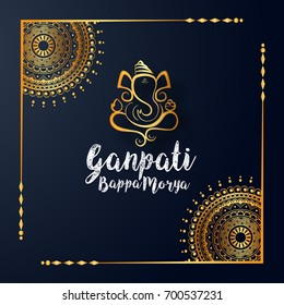 Creative Greeting Card,Poster Or Banner For Hindu Festival Ganesh Chaturthi Celebration Or Shubh Deepawali.