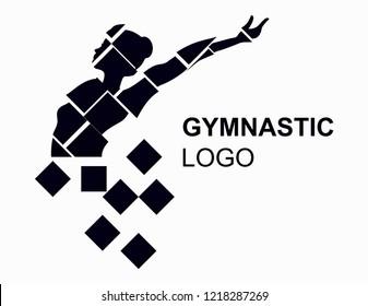 Creative gymnastic logo design.