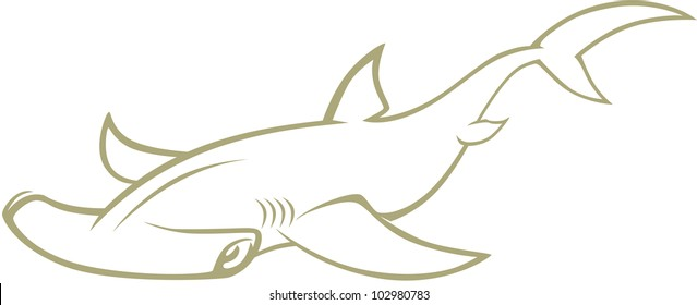 Creative Hammerhead Shark Illustration
