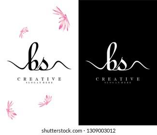 creative handwriting logo letter bs/sb vector