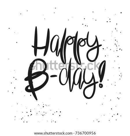 Creative Happy Birthday Card Template Black Stock Vector Royalty