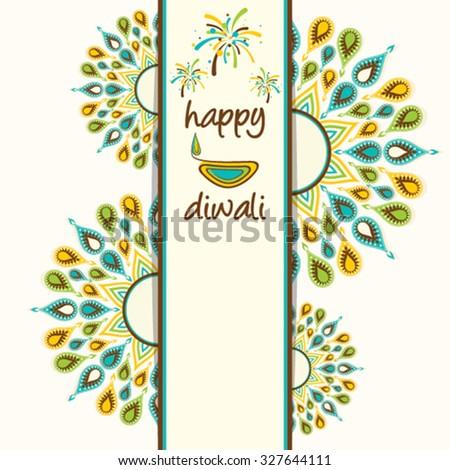 Creative happy diwali greeting card design stock vector royalty creative happy diwali greeting card design with colorful diyas design vector m4hsunfo