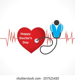 creative happy doctor's day design vector