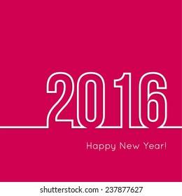 creative happy new year 2016 design.