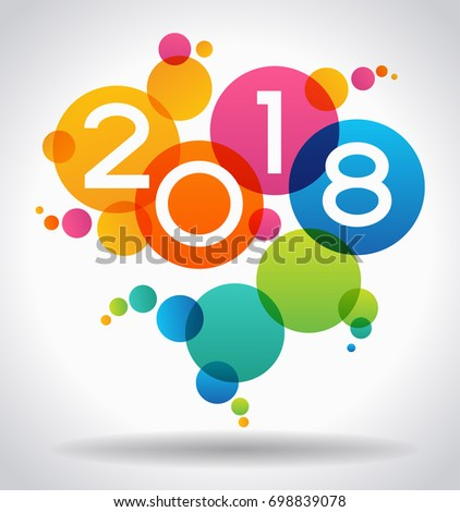 creative happy new year 2018 design new year background the file is saved in