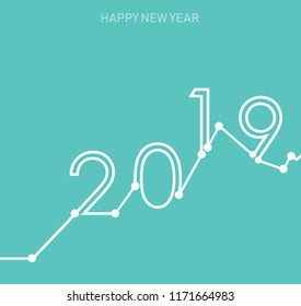 Creative happy new year 2019 banner on modern background for your seasonal flyers, greetings card vector illustration design