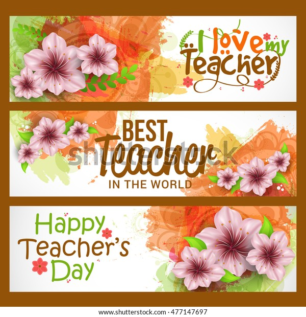 Creative Header Banner Teachers Day Celebration Stock Vector