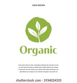 Creative health nature leaf tree icon logo design vector illustration. naturel product symbol logo design color editable