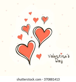 Creative hearts decorated beautiful greeting card design for Happy Valentine's Day celebration.