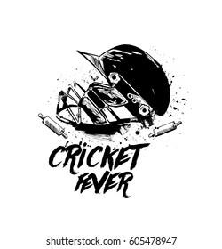 Cricket Game Doodles Stock Illustrations Images Vectors