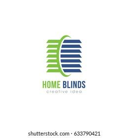 Creative Home Blinds Concept Logo Design Template