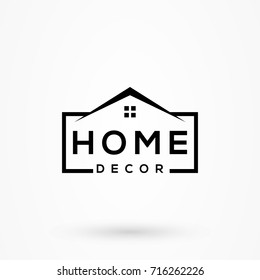 creative home decor logo detailing with clean background