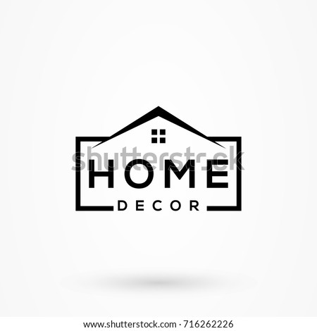 Creative Home Decor Logo Detailing Clean Stock Vector Royalty Free