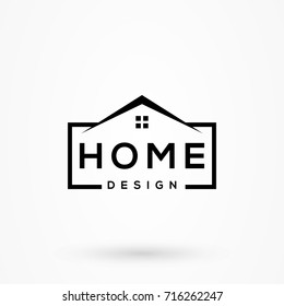 Creative Home Design Logo Detailing With Clean Background