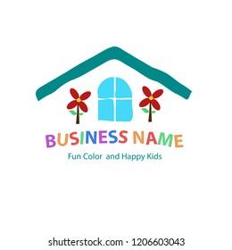 creative home logo vector