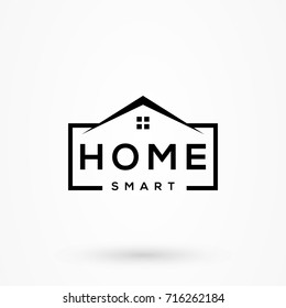 creative home smart logo detailing with clean background
