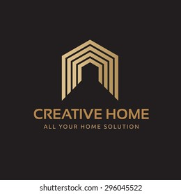 Creative Home Vector Logo Template