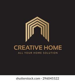 Creative Home Vector Logo Template