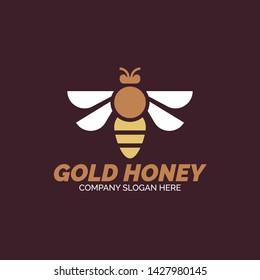 Creative Honey Bee Illustration for Drink Industry and Medicine. Honey Bee Design logo vector.