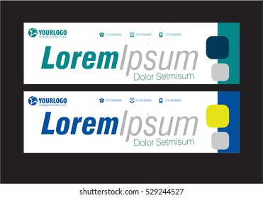 Creative Horizontal Banner Template with Elements