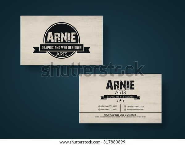 Creative Horizontal Business Card Visiting Card Stock Vector