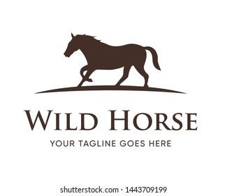Creative Horse Elegant Logo Symbol Design Illustration Vector for Company