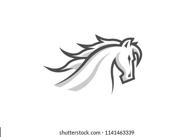Creative Horse Head Logo Symbol Vector Design Illustration