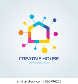 Creative House Logo Template.
