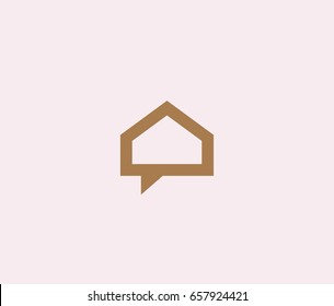 creative house vector logotype.