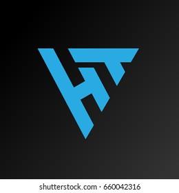 Creative HT logo in triangular form.